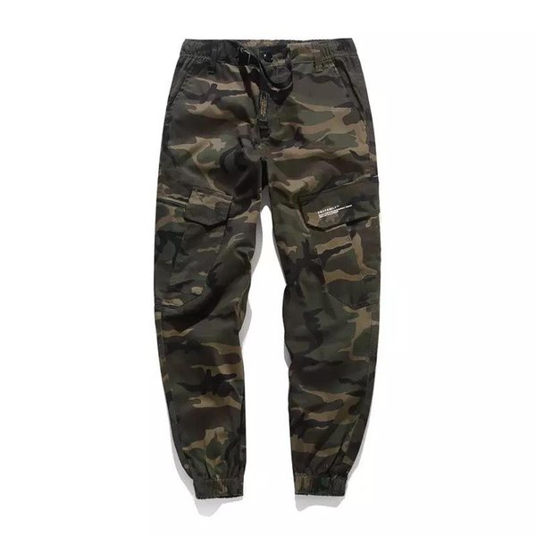 Fashion Classic Army Pants High Street Cotton Jeans Men Jogger Pants Brand Designer Big Pocket Military Cargo Pants Men Jeans