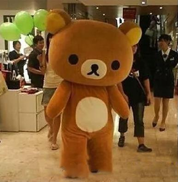2019 Venta de la fábrica Janpan relajación oso trajes de la mascota del tamaño adulto para la fiesta de Halloween trajes de la mascota de alta calidad