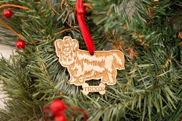 Yorkie Ornament - Yorkshire Terrier - Personalized Dog Ornament Dog Breed Christmas Pet Memorial Gift for Lov