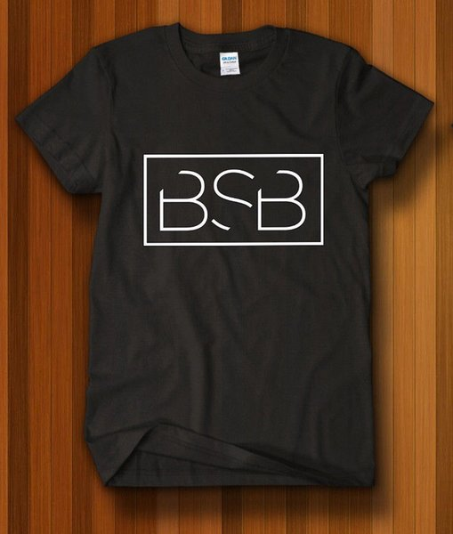 T-Shirt Backstreet Boys BSB Logo Nero T-Shirt Usa Taglia Taglie Discout Hot New Tshirt Colore Jersey T Shirt