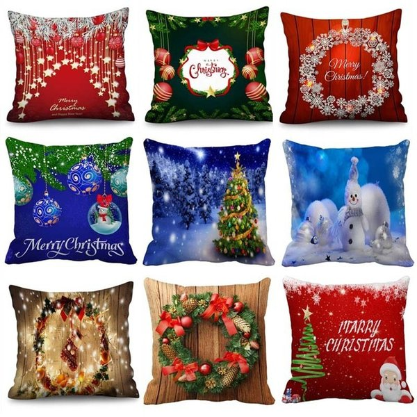 Remarkable 2019 New Christmas Pillow Cushion Sofa Cushion Office Lumbar Pillow Bed Back Cushion Hug Pillowcase Christmas Decorations Snowman Wicker Seat Cushions Beatyapartments Chair Design Images Beatyapartmentscom