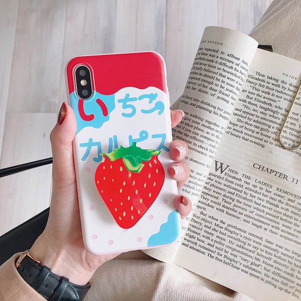 Airbag bracket Summer fruit phone case for iPhone XR variety of fruit pattern TPU anti-fall soft cover
