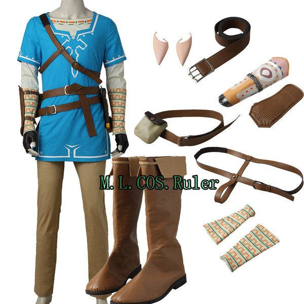 2019 Hot The Legend Of Zelda Breath Of The Wild Link Tunic Cosplay Costume Any Size From Vipjx 170 85 Dhgate Com
