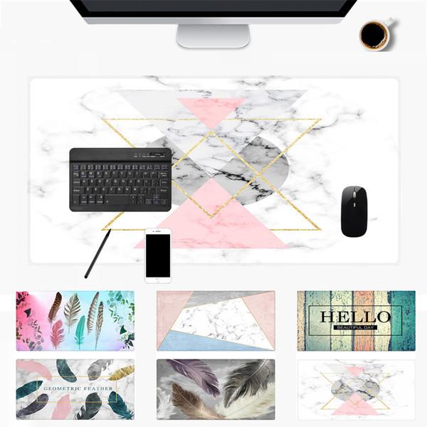 1 PC 90 * 40cm grande alfombrilla de ratón Oficina Escritorio de la computadora Mat moderna de bloqueo borde de la mesa de juego teclado del ordenador portátil Cojín suave de calidad superior