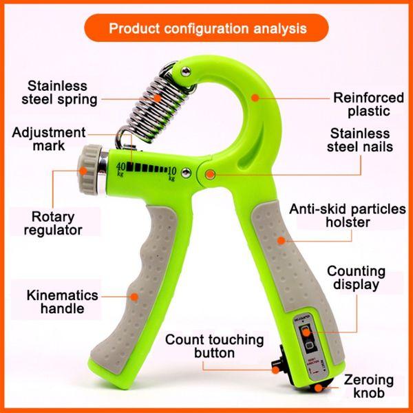 R-Spring Intelligent Fitness Equipment Accessories Регулируемый счетный захват Finger тренажеры для реабилитации