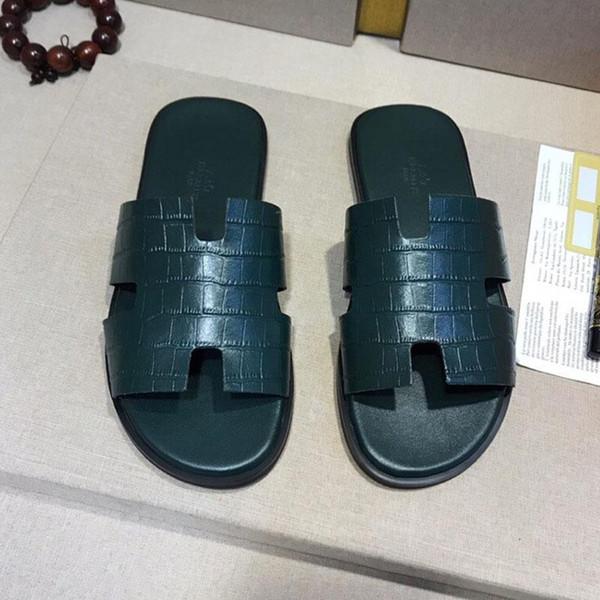 luxeconcepteur de luxe chaussons homme Mode antidérapante sandales de plage tongs classiques pantoufles homme intérieur chaussures de sport pour homme libre sh