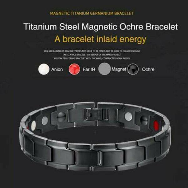 Braccialetto dell'ologramma Braccialetto terapeutico a guarigione energetica Braccialetto magnetico in acciaio inossidabile