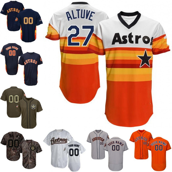 new concept 0163b 779c1 Men Custom Houston Astros Jersey Carlos Correa Alex Bregman Ryan George  Springer Michael Brantley Jose Altuve Justin Verlander Cole UK 2019 From ...