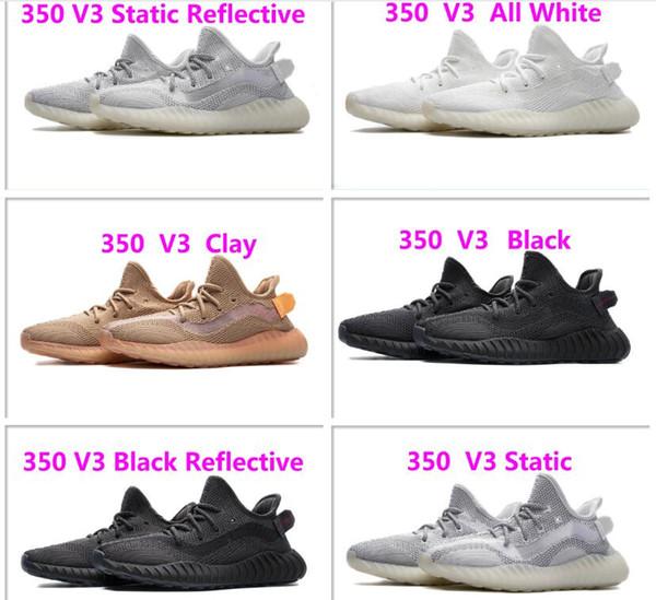 Mens Womens Authentic Kanye West Boost V3 nero riflettente scarpe di design moda stile di lusso vendita calda stella calcio scarpe da ginnastica all'aperto