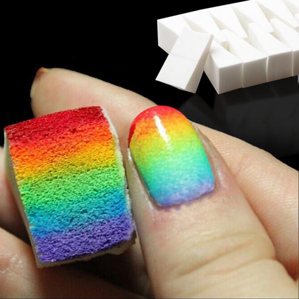 24Pcs Soft Triangle Nail Art Transfer Sponge Gradient Coloring Stamping Stamper Painting Image Stamp Foam Polish Gel UV Tool New
