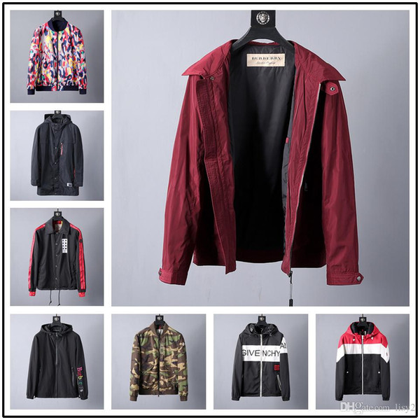 15STYLE fashion designer sports jackets mens metal nylon sunscreen fabric windproof UV protection smooth comfortable ykk zipper outerwear