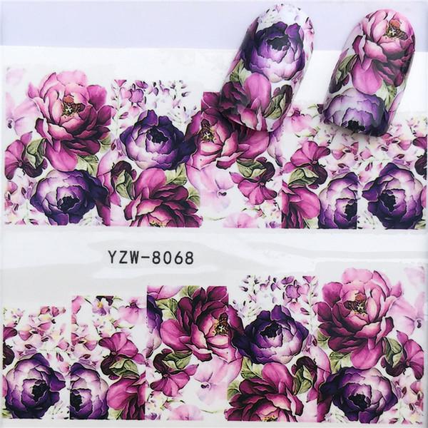 2018 Tous les nouveaux autocollants pour pâte à ongles, petites fleurs fraîches, autocollants ongles en filigrane, filigrane, autocollants.YZW-8068