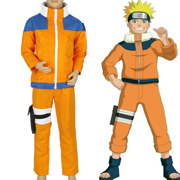 Calssic Anime Cosplay Naruto crianças Cosplay Costumes juvenis Uzumaki Naruto crianças tamanho Livre Europeia ShippingMX190923