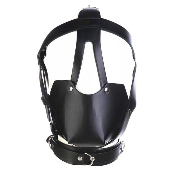 fétiche tête harnais bouche masque avec ball gag kinky jouer bdsm bondage gear roleplay sex toys pour femmes noir