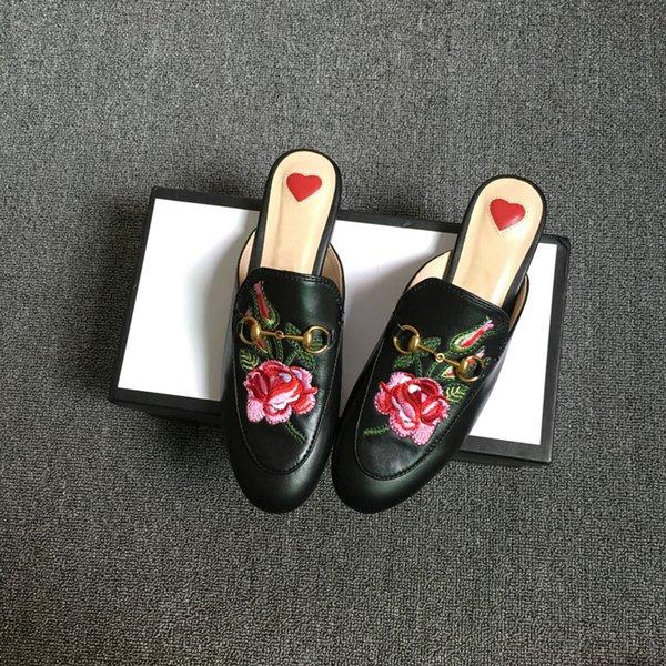 schwarz mit Blumen