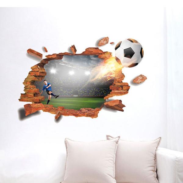 Grosshandel Wand Aufkleber Wand Dekor Fussball Fussball Aufkleber Fur Kinderzimmer Schlafzimmer Decorationr Diy Poster Tapete Tapete Wandaufkleber Von
