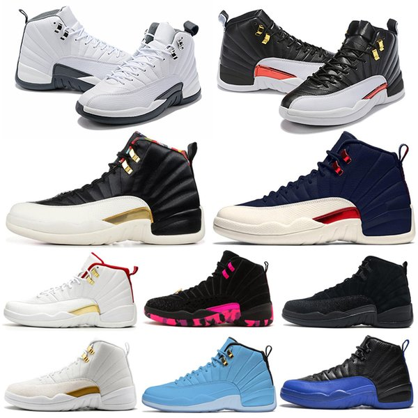 Free ship Basketball Shoes 12 12s Men Shoe Doernbecher Wings Reverse Taxi Game Royal French Blue Mens Trainers Outdoor Sports Sneakers 7-13