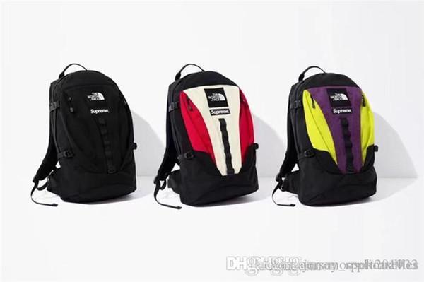 18fw Sup le sac d'école sac à dos d'expédition North Street Fashion polochons hommes femmes sacs à dos sport sacs de voyage en plein air