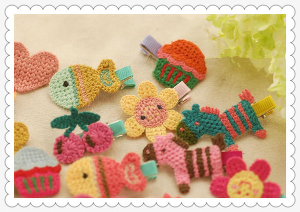 Hand-woven BB clip hairpin baby girls hair pin clips baby headdress hair clip YD0194