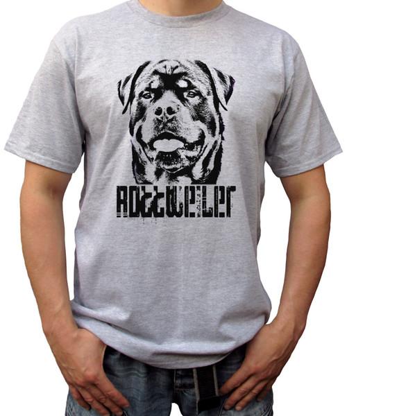 Rottweiler - gris t-shirt haut t-shirt rott tee design rottie dog - tailles pour hommes
