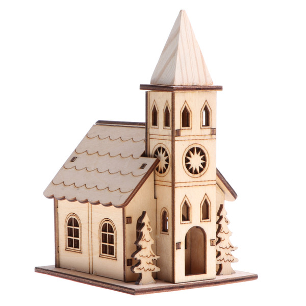 Puzzles Novel Wooden 3D Puzzle Mini Bell Tower House Model Western Style Belfry House Home Decor Building Assemble Toy Educational Gift