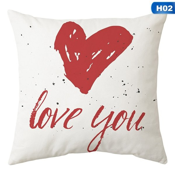Valentine/'s Day LOVE Decoration Pillow Cover Couple Red Heart Arrow Cushion Case
