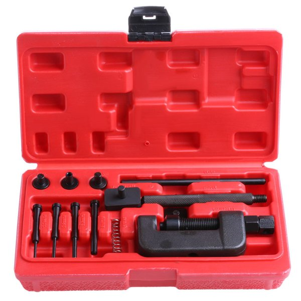 Free delivery Bike Motorcycle Chain Breaker Splitter Link Riveter Riveting Repair Set Tool Kit New Drop shipping