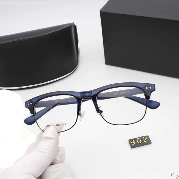 Designer de luxo Óculos Designer de Óculos De Sol Homem Mulheres Ornamental óculos Myopic Óculos de Vidro 5 cores Modelo 902 de Alta Qualidade com Caixa