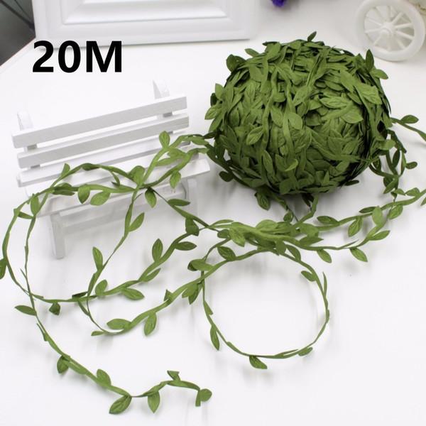 20m Home Decor Artificial Garland Plants Vine Fake Foliage Flowers Creeper Green Ivy Wedding Wreath Accessories
