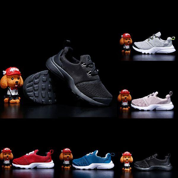 Nike Presto React Tasarımcı çocuklar Presto Chaussures Koşu Ayakkabıları Bebek yürüyor prestos Ultra BR QS Açık Koşu Nefes Eğitmenler Sneakers B ...