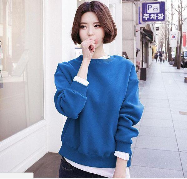 2018 autumn and winter clothing Korea Dongdaemun women's stitching white headband round neck sweater female Korean version