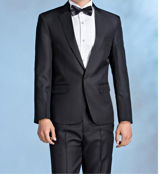 Crazy2019 Handsome & Casual Men Suits Simple Pop Groomsman Wedding Suits Best Men's Dinner Party Tuxedos (Jacket+Pants+Bow)