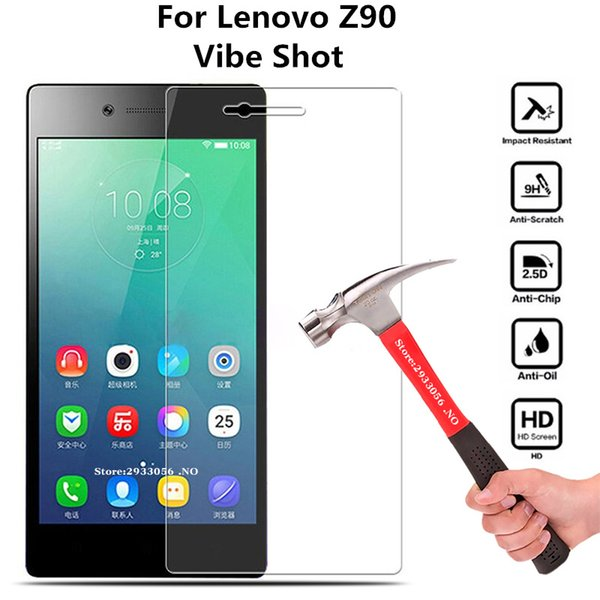 2pcs Lenovo Z90a40 Tempered Glass For Lenovo VIBE Shot Z90 Z90-7 Z90a40 Screen Protector Protective Flim For Z90 Glass