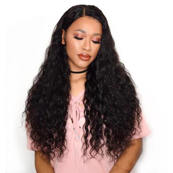 150% Dichte Tiefe natürliche Wellen 4X4 Spitze Perücken Made By Haar Bündel mit Verschluss für schwarze Frauen mit Baby-Haare