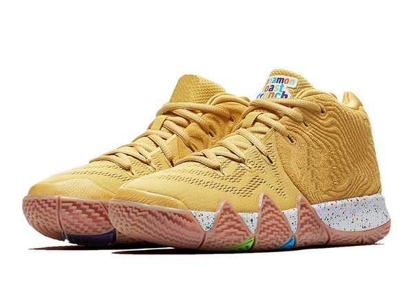 Hot kyries IV toast crunch for sale Best Quality new Irving 4 cereal pack Basketball shoes free shipping US7-US12