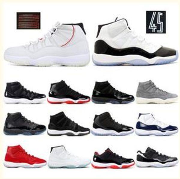 Navy Pink Concord Men Women Basketball Shoes Cap and Gown Bred Platinum Tint Mens Designer Sport Trainerjordan 11 Sneakers