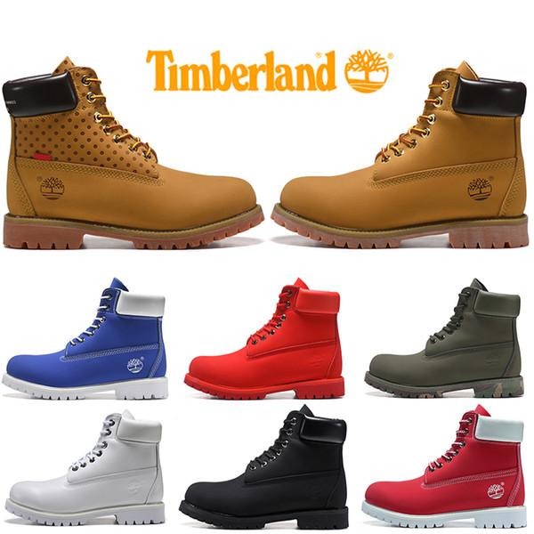 Timberland Boot Per Donna Uomo Casual inverno stivali bianchi militare Blu Triple Nero Moda Rosso Mens Trainer Escursionismo Outdoor Sneaker