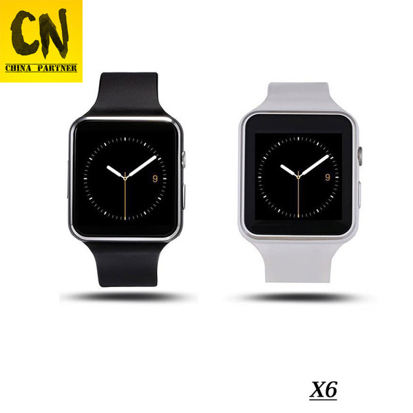 X6 Smart Watches With Camera Touch Screen Support SIM TF Card Bluetooth Smartwatch For Iphone X Samsung s9 Phone goophone with Retail Box