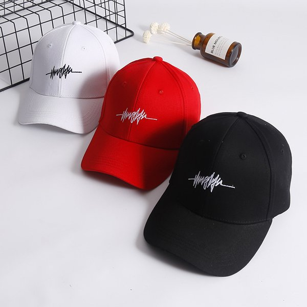 2019 women brand designer Fashion Personality Embroidery White Cap Cotton Swag Snapback Hats for Men Women Hip Hop Fitted Baseball Caps