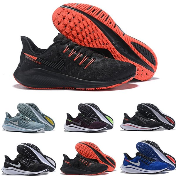 2020 New Zoom Vomer 14 V14 Grey Hot Punch Black White Shoes Cheap Sale Men Women React Zoom X Vaporfly Pegasus 14 Trainers Zapatillaes