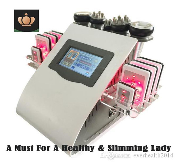 New model 40k ultra onic lipo uction cavitation 8 pad la er vacuum rf kin care alon pa limming machine beauty equipment