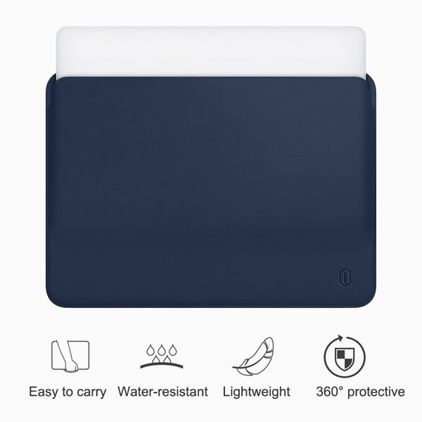 WiWU notebook per pollice Impermeabile PU Custodia in pelle per il sacchetto di caso pro 13 da 15 pollici ultra-sottile computer portatile
