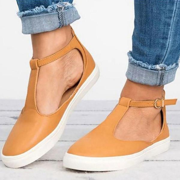 Yeni 2018 Yaz Kadın Sandalet Moda Kadınlar Kapalı Toe Düz Ayakkabı Kadın Ayakkabı Nefes Katı Rahat Ayakkabılar Artı Boyutu WF43