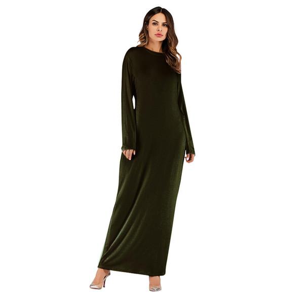 abito medio Oriente donna abito Maxi musulmano manica lunga Abaya Kaftan Abbigliamento Donna Robes Abbigliamento vestido de fiesta # 15