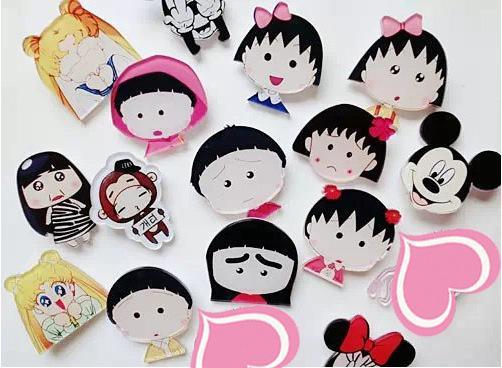 1 STÜCKE Chi-bi Maruko Stil Mode Anime Broschen Acryl Hochzeit Pin Cartoon Brosche Abzeichen Pins Unisex Schmuck Geschenke Neu
