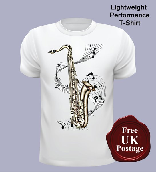 Saxophone, Men's T Shirt, Saxophone, Music, T Shirt, Choose Your Size Funny free shipping Unisex Casual Tshirt