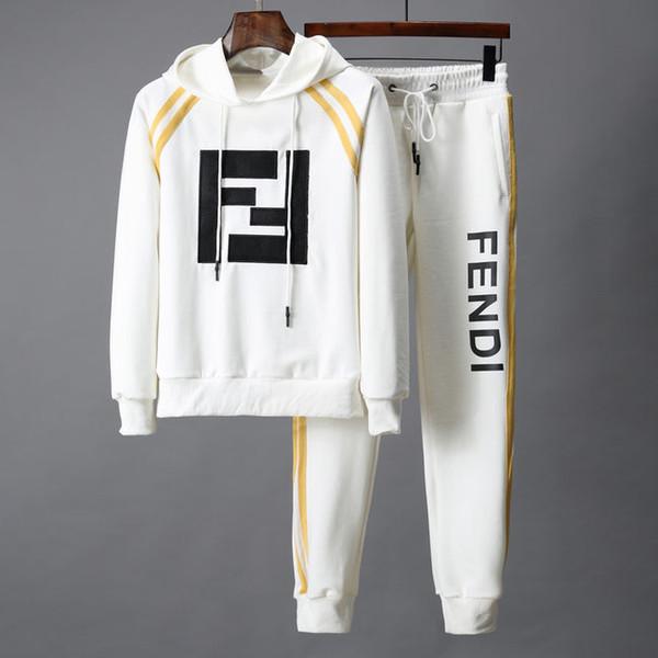 19E nouveaux costumes pour hommes vêtements de sport Medusa costume sweatshirt et pantalons costume qualité active veste de coton active masculine sportswear M-3XL