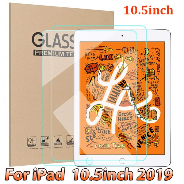 Tablet Pad Tempered Glass Screen Protector for IPAD 10.5 10.5inch 2019 ipad7 ipad 7 ipad pad pro 2017 inch Glass Film in retail package