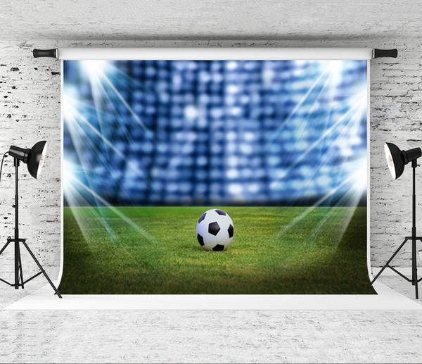 Grosshandel Traum 7x5ft Fussball Fotografie Hintergrund Fur Party Foto Green Field Hintergrund Schiessen Studio Prop Fotograf Kinder Fotografisch Von