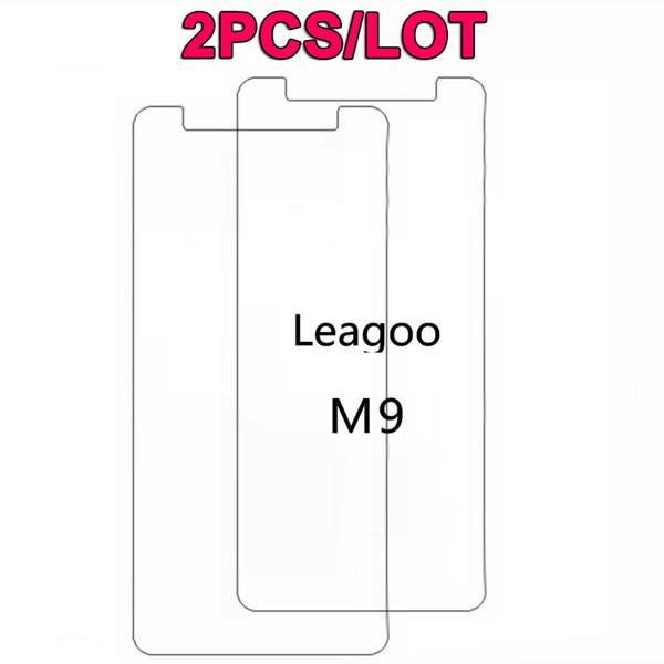 "2PCS/Lot Leagoo M9 Tempered Glass 5.5"" 9H Premium Scratch proof Protective Screen Protector Film For Leagoo M9 Mobile Phone Film"